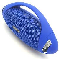 Беспроводная аккумуляторная колонка Bluetooth акустика FM MP3 AUX USB Hopestar H37 синяя
