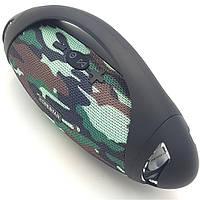 Беспроводная аккумуляторная колонка Bluetooth акустика FM MP3 AUX USB Hopestar H37 камуфляжная
