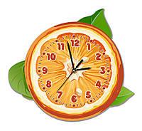 Часы настенные для кухни Апельсин 33*30 см