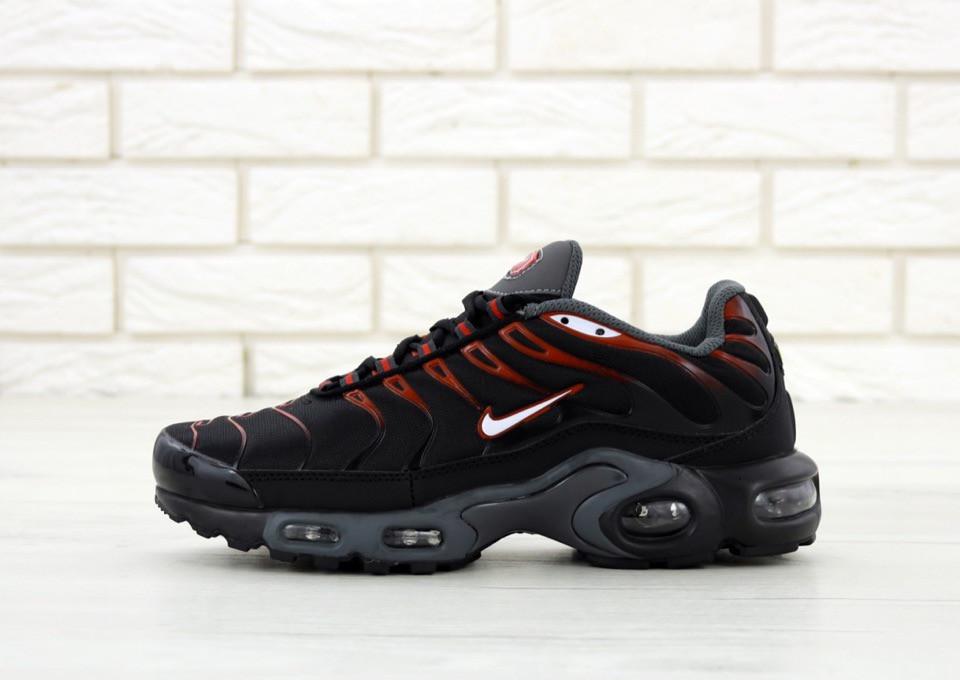 dfa38533 Мужские кроссовки Nike Air Max TN Plus Black/Red . ТОП Реплика ААА класса.