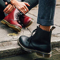 Ботинки весна Dr. Martens 10072004-1460 Black чорні Dr.Martens Cherry red Мартенси Navy мартенси, мартіна., фото 1
