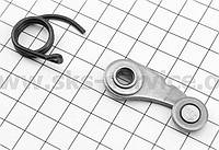 Ролик - фиксатор КПП на пластине + пружина