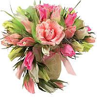 Букет из конфет Розы большой розовый, фото 1
