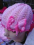Весенние  шапочки для девочки, фото 4
