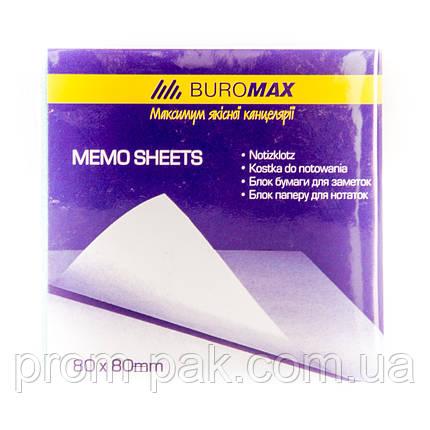 Блок бумаги для заметок 80х80 ВМ 2200 белый, фото 2