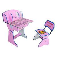 RUS Парта + стул E2881 PINK Веселой учебы
