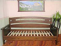 """Деревянный диван-кровать """"Луи Дюпон Премиум"""" (с кованным элементом) 1200*2000"""