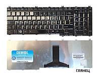 Оригинальная клавиатура для ноутбука TOSHIBA Satellite A500, A505, Qosmio F50, G50, rus, black, глянец