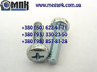 Винты нержавеющие М3х22, винт с закругленной цилиндрической головкой, шлиц крестообразный, винт DIN 7985.