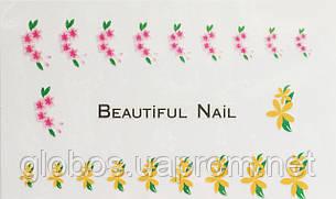 """Наклейка на ногти  2D  """"GLOBOS""""  S334, фото 2"""