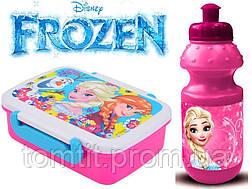 """ОПТ. Набор """"Frozen"""" и """"Cars"""": Ланч бокс (ланчбокс) + бутылка, фото 3"""