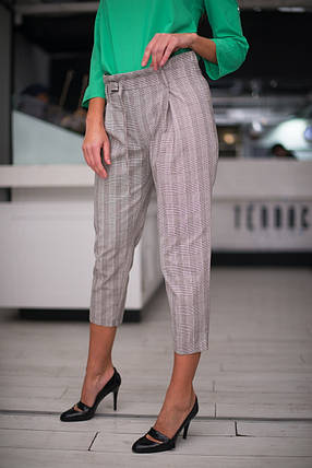 Клетчатые брюки укороченной длины, фото 2