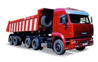Вантажоперевезення самоскидом з напівпричепом до 40 тон