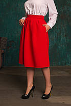 Женская пышная юбка из костюмной ткани, фото 2