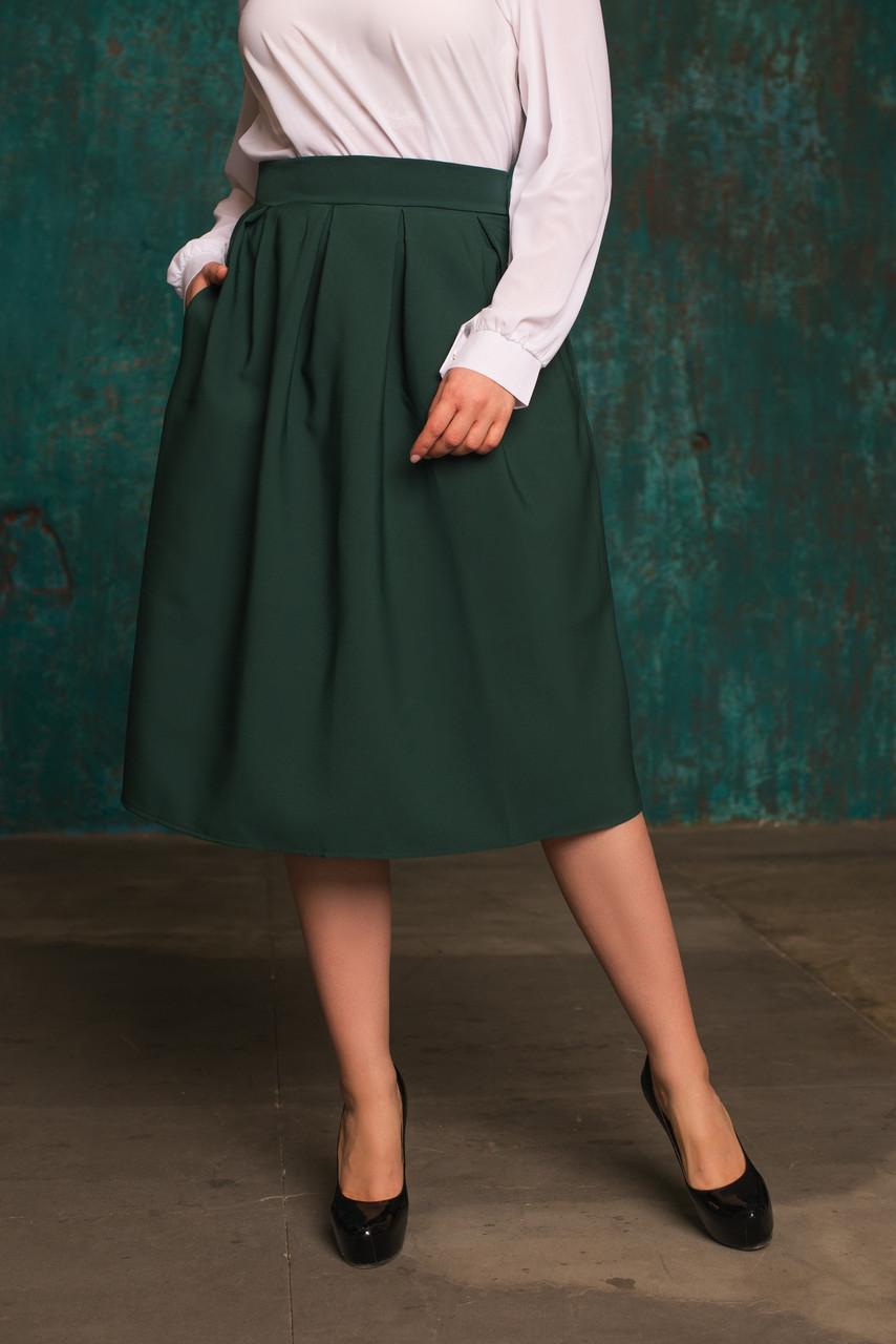 Женская пышная юбка из костюмной ткани