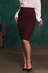 Модная юбка декорированная молнией