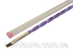 Кисть для геля YRE №8, спиральная ручка