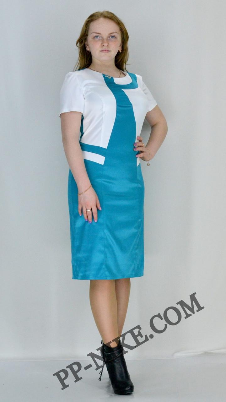 Атласное платье №451