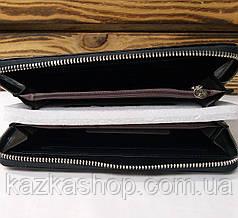 Женский кошелек из искусственной кожи, на молнии, 5 отделов для купюр, для 12 карт, черного цвета, фото 2