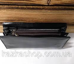 Женский кошелек из искусственной кожи, магнитный замок, 4 отдела для купюр, для 7 карт, черного цвета, фото 2