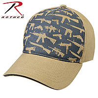 Бейсболка Rothco Deluxe Khaki Guns Low Profile Cap