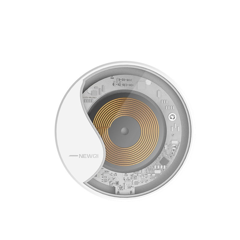 Бездротовий зарядний пристрій NEWQI Wireless Charger Pad бездротова зарядка 10W Білий (SUN3490)