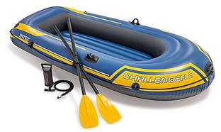 Надувная лодка с веслами и насосом