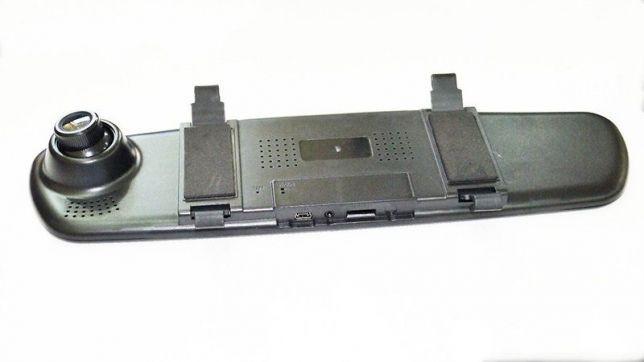 """Авторегистратор зеркало DVR C-12 зеркало с двумя камерами 4"""" экран запись звука тонкий видеорегистратор"""