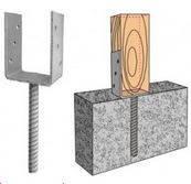 Фундаментный анкер Крепление LB-6 150х60х125х5х200