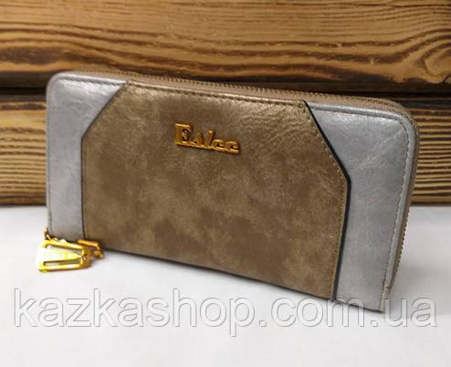 Женский кошелек из искусственной кожи, на молнии, 5 отделов для купюр, для 8 карт, фото 2