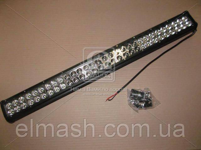 Фара LED прямокутна 180W, 60 ламп, 710*75*70мм, комбінований промінь 12/24V (нижн. крепл.)(Китай)
