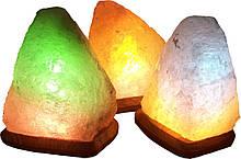 """Соляная лампа """"Скала"""" 3-4кг. (цветная подсветка)"""