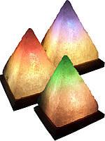 """Соляная лампа """"Пирамида"""" 5-6кг. (цветная подсветка)"""