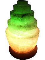 """Соляная лампа """"Пагода"""" круглая 3-4кг."""