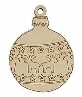 Деревянные новогодние украшения Shasheltoys Шар 9 см (010213)