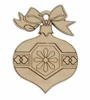 Деревянные новогодние украшения Shasheltoys Шар 9 см (010218)