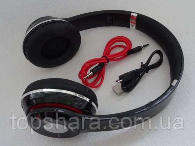 Наушники беспроводные Bluetooth Wireless S-460 (MP-3/ stereo/headset)