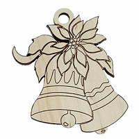 Деревянные новогодние украшения Shasheltoys Колокольчик 9 см (010202)
