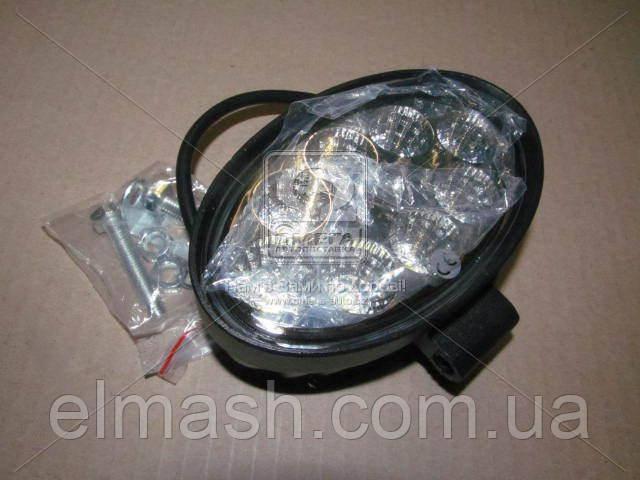 Фара LED овал 24W, 8 ламп, мм, широкий луч 12/24V (Китай)