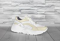 Белые кроссовки на высокой подошве. Натуральная турецкая кожа.0077, фото 1