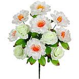 Букет пионов и роз , 51см (12 шт. в уп), фото 2