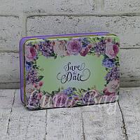 Металлическая коробочка Flower bed of roses Цвет:Сиреневый