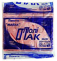 Полиэтиленовые пакеты Майка Поли-Пак 22 х 39 см - 100 шт.