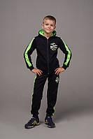 """Спортивный костюм детскийдля мальчика, """"Boston"""",7-11 лет,темно-синий с салатовым, фото 1"""