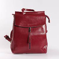 """Женский кожаный рюкзак-сумка (трансформер) """"Алиса Red"""""""