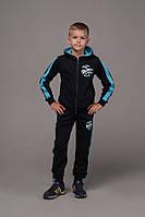 """Спортивный костюм детский для мальчика, """"Boston"""", 7-11 лет, темно-синий с голубым, фото 1"""