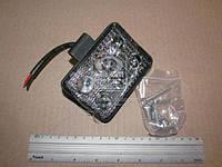 Фара LED прямокутна 18W, 6 ламп, 100*70*30мм, вузький промінь з лінзою 12/24V (Китай)
