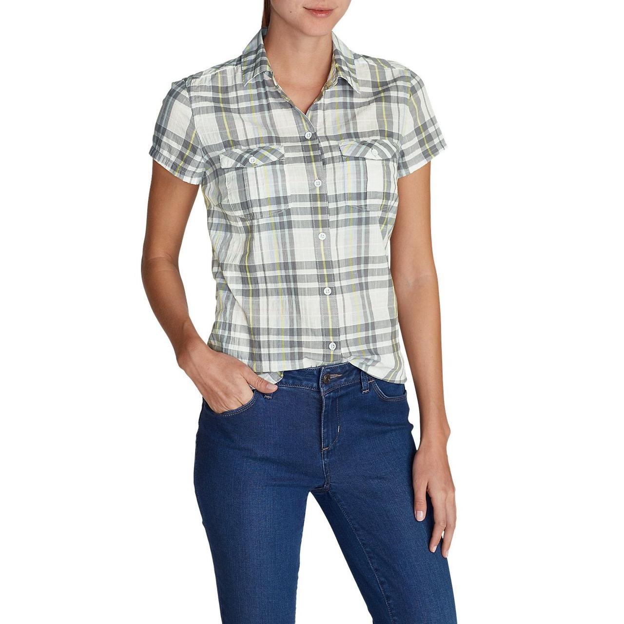 Блузка Eddie Bauer Womens Packable Short-Sleeve Shirt SPRIG (XS)