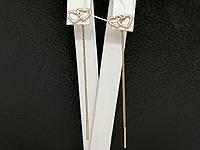 Золотые серьги-протяжки. Артикул СПП354И, фото 1