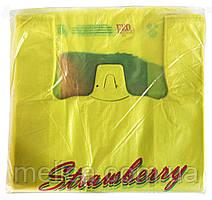 Полиэтиленовые пакеты Майка Comserv Клубника 29 х 55 см - 100 шт.